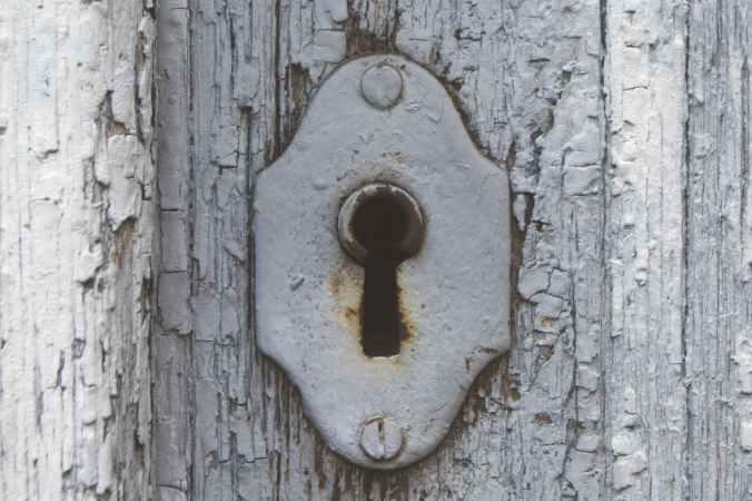 antique close up door iron