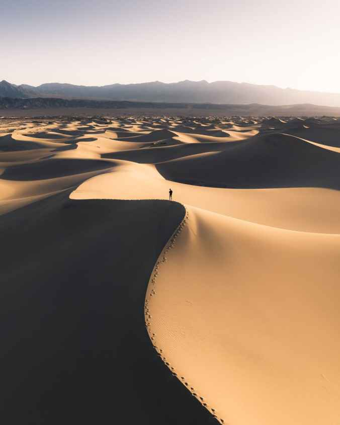 person in desert