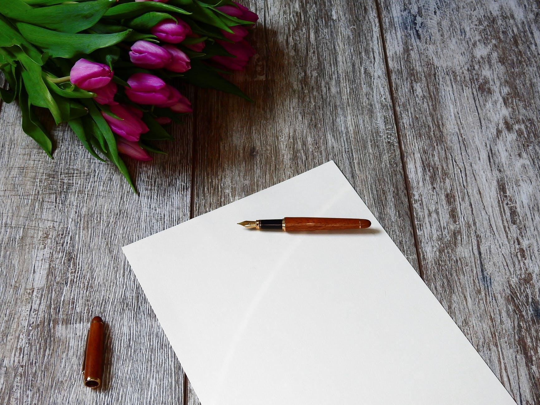 blank bouquet card color